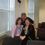 Eu e as co-editoras da Joomla Community Magazine, Alice Grevet e Dianne Henning