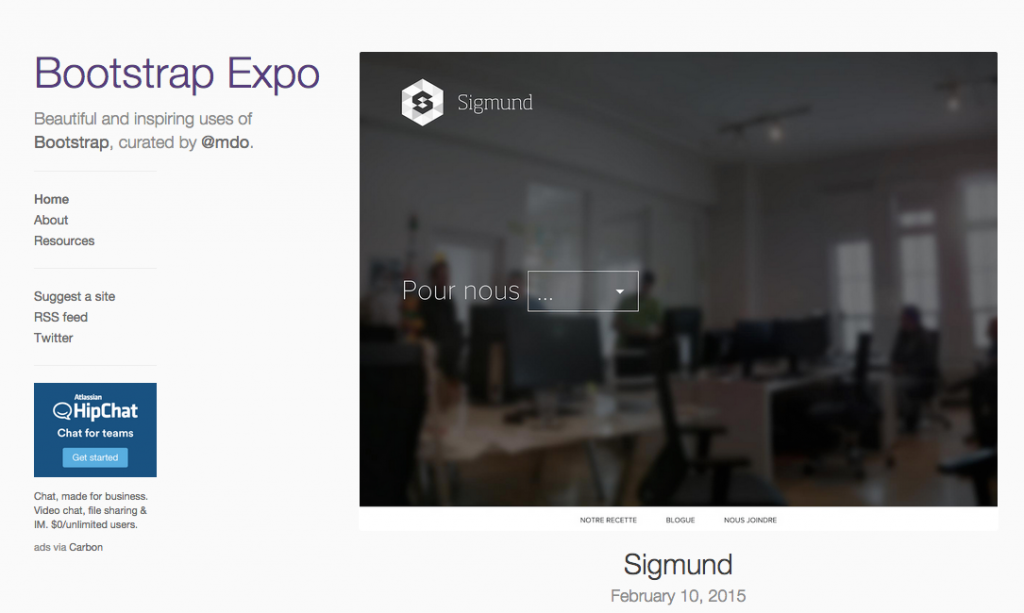 Bootstrap Expo - http://expo.getbootstrap.com